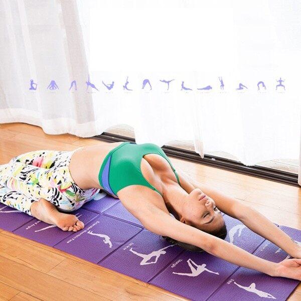 Thảm Tập Yoga Gấp Gọn Nhất Thảm Tập Yoga PVC Di Động Du Lịch Tập Thể Dục Cho Người Mới Bắt Đầu 173*61*0.5Cm