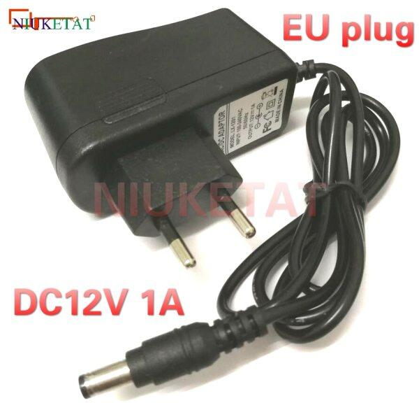 1pcs Dc 12v 1a Ac100v-240v Eu Plug Converter Power Supply Adapter 12v1a 1000ma Interface 5.5mm*2.1mm2.5mm Drive Led Strip