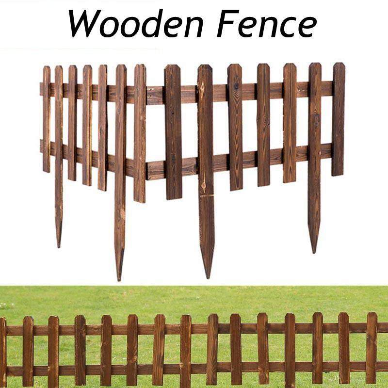 W&R 62x35cm(LxH)Anti -Corrosion Wooden Fence Country Corner Picket Garden Creations Patio Wood Fence Garden Ornament Fence Farmyard Fence