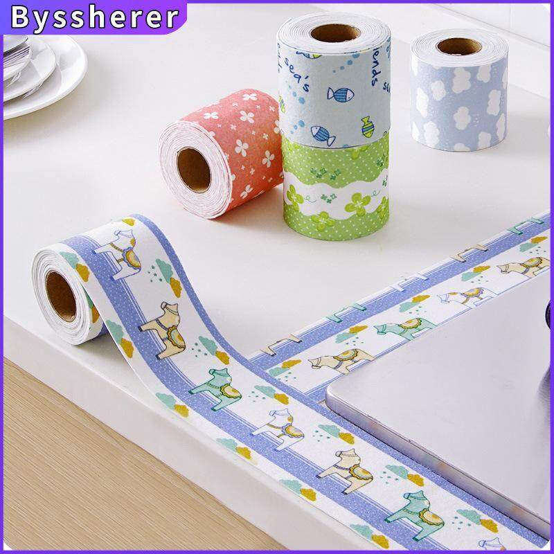 Byssherer Mold-Proof Adhesive Tape Waterproof Stickers Kitchen Sink Decoration Bathroom Seam Strips Corner Glue Cartoon Pictures