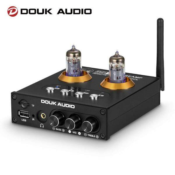 Douk Audio P2 HiFi Vacuum Tube Preamp Bluetooth 5.0 Receiver Stereo Headphone Amplifier USB Music Player Malaysia
