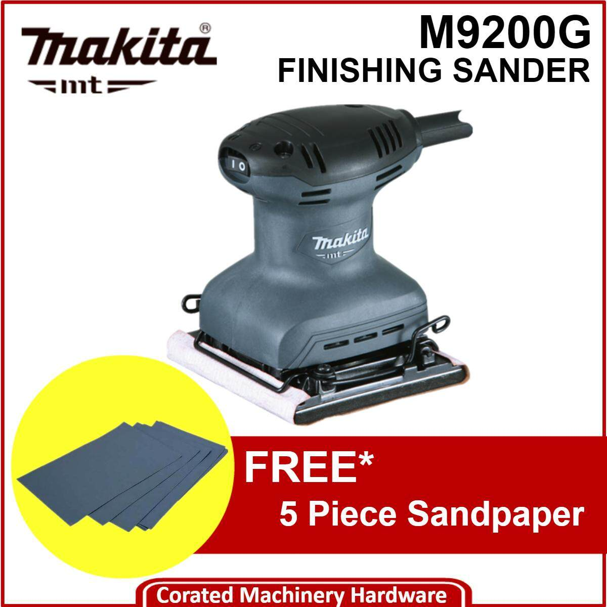 [CORATED] Makita M9200G Finishing Sander (112 x 102MM, 180W, 14,000OPM)