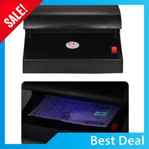 Best Seller! Portable Desktop Multi-Currency Money Detector Counterfeit Cash Currency Banknote Checker Tester Single UV Light with ON/OFF Switch for EURO POUND (Black)