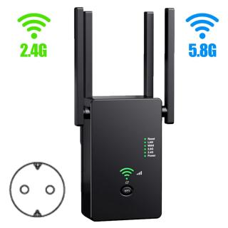 Bộ Lặp Mở Rộng Phạm Vi WiFi 1200Mbps 2.4And5.8GHz, Khuếch Đại Không Dây Router Tăng Cường Tín Hiệu thumbnail