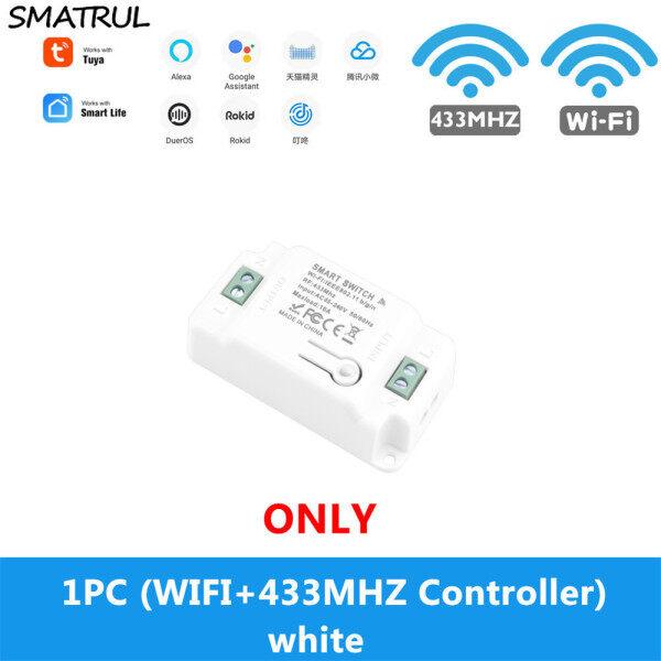 Trang Chủ Wifi Thông Minh [Smatrul] Ứng Dụng Cuộc Sống Thông Minh Tuya Wifi + Mô-đun Hẹn Giờ Rơle RF 433Mhz Google Home Amazon Alexa 110V-220V 10A Cho Đèn Công Tắc Đèn Pha
