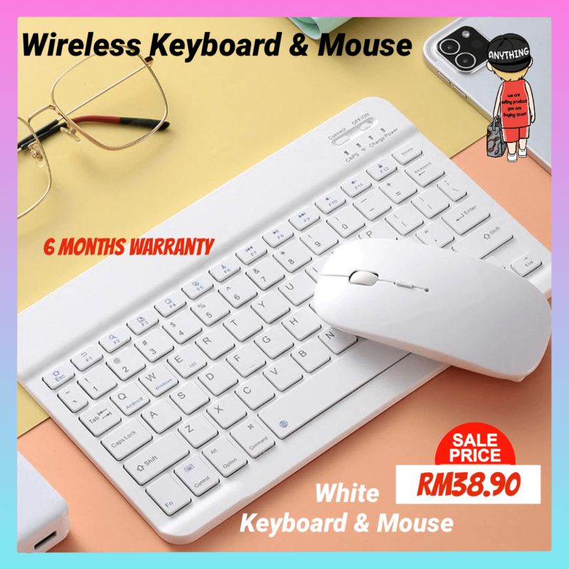 Wireless Bluetooth Keyboard With Mouse Combo Set Portable Compatible With Tablet For Huawei Pad For Ipad For Samsung Tab Malaysia