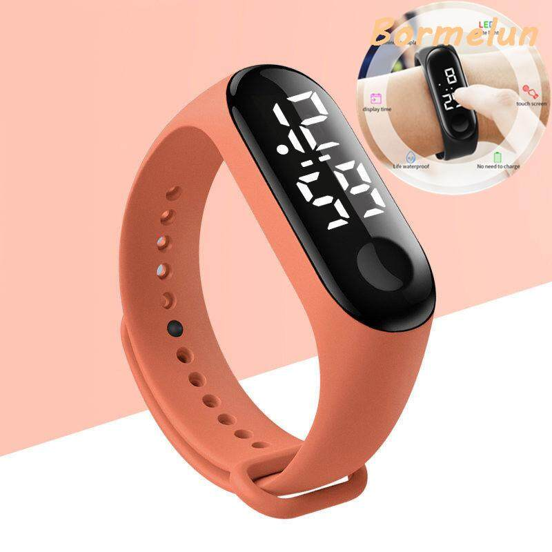 Fashion Unisex LED Touchscreen Sports Electronic Bracelet Real Swimming Level Waterproof Wristband M Style Multifunction Digital Watch Malaysia