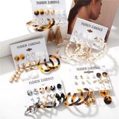 Vintage Tassel Acrylic Ngọc Trai Earrings Đối Với Phụ Nữ Bohemian Earrings Set Big Dangle Drop Earring 2020 Brincos Nữ Thời Trang Bãi Biển Đồ Trang Sức