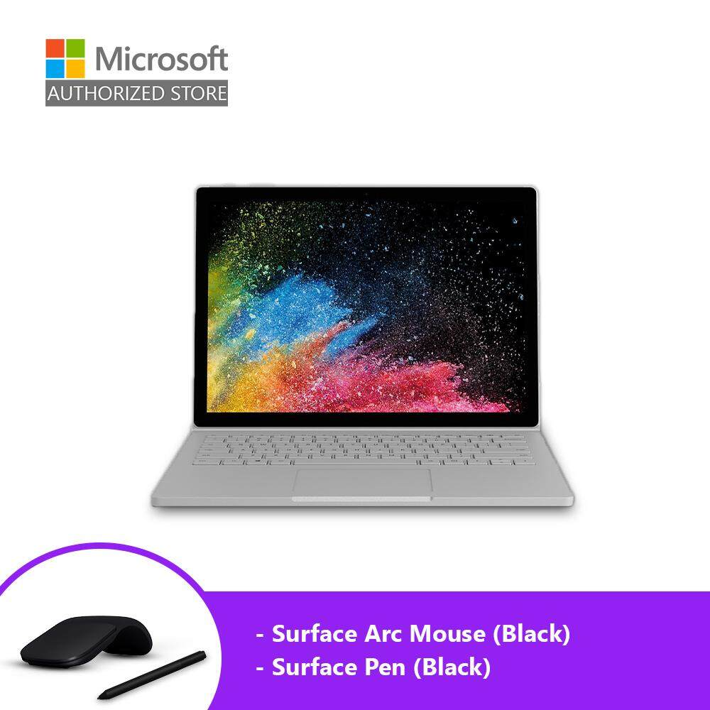 [BUNDLE] Microsoft Surface Book 2 13-inch (i5/8GB/256GB) + Pen (Black) + Arc Mouse (Black) Malaysia
