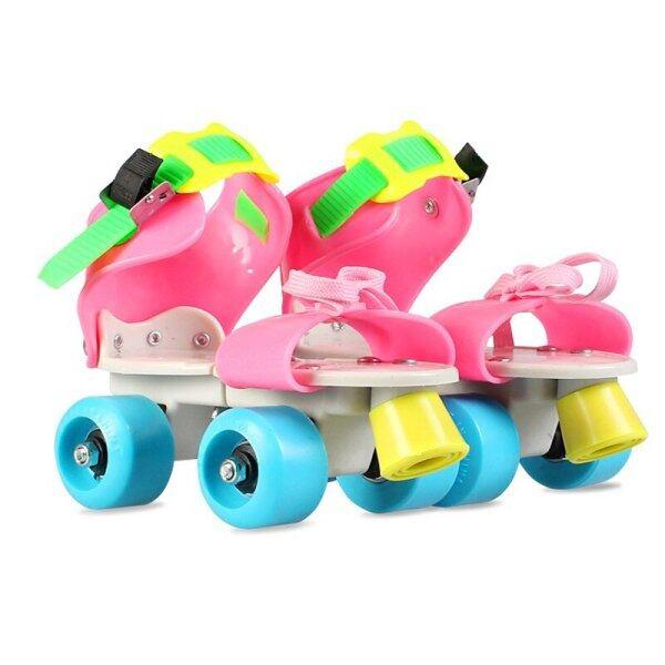 Mua Quà Tặng Trẻ Em Trẻ Em Giày Trượt Pa-tanh Hai Hàng 4 Bánh Xe Giày Trượt Băng Kích Thước Có Thể Điều Chỉnh Trượt Slalom Giày Trượt Patin Một Hàng Bánh Trẻ Em Bé Trai Bé Gái