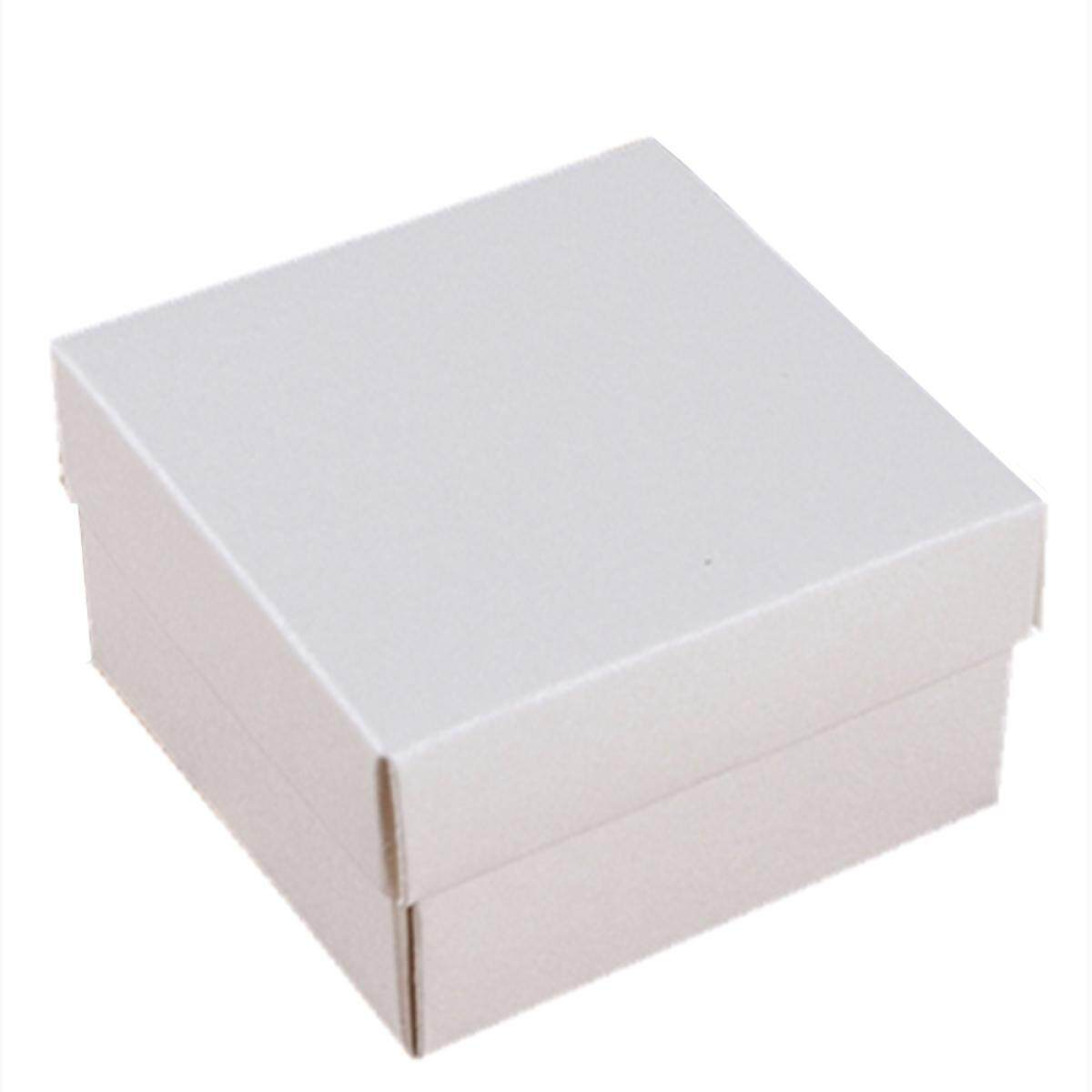 25Pcs Paper Ring Earring Jewelry Display Square Gift Boxes Case White