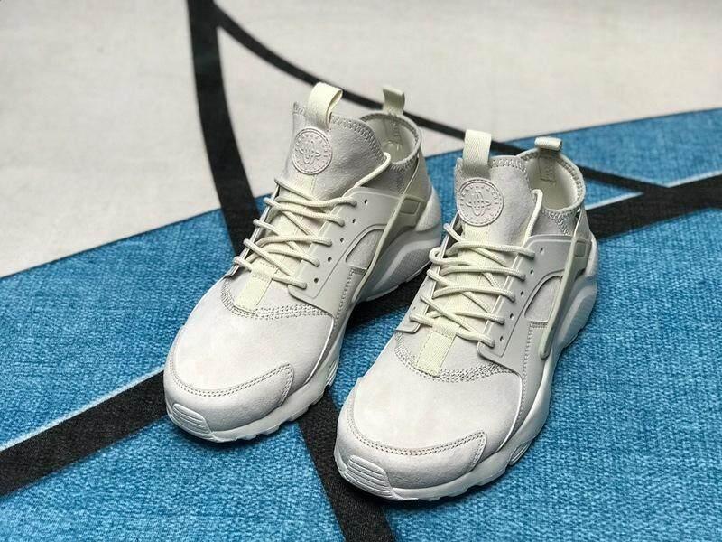 Authentic Nike_Air HuaracheVol.4 Ultra suede ID Running Shoes Built-in Air Cushion Sport Sneakers