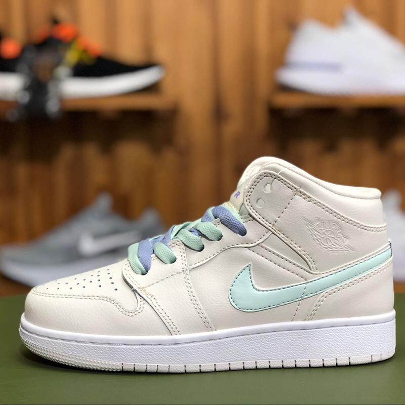 separation shoes 95594 6e707 Nike Air Jordan 1 A J1 meters white to help four-color prostitute color lace