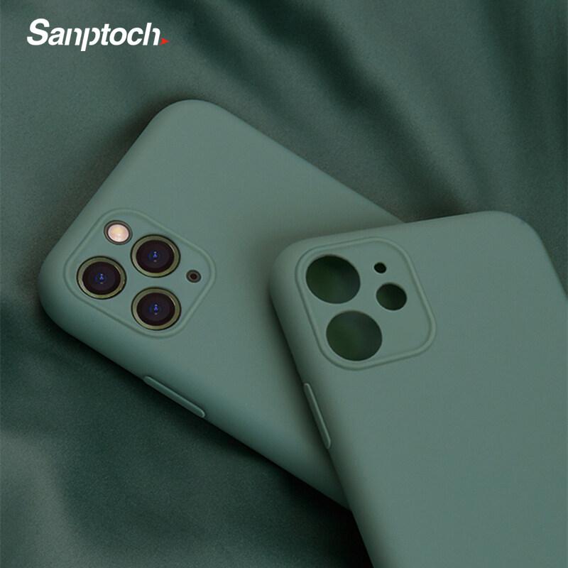Giá Sanptoch Multi-Color Mềm Silicone Lỏng Ốp Điện Thoại Cho Apple iPhone 11 / 11 Pro Max Siêu Mỏng Cover Quay Lại Ống Kính Vỏ Bảo Vệ