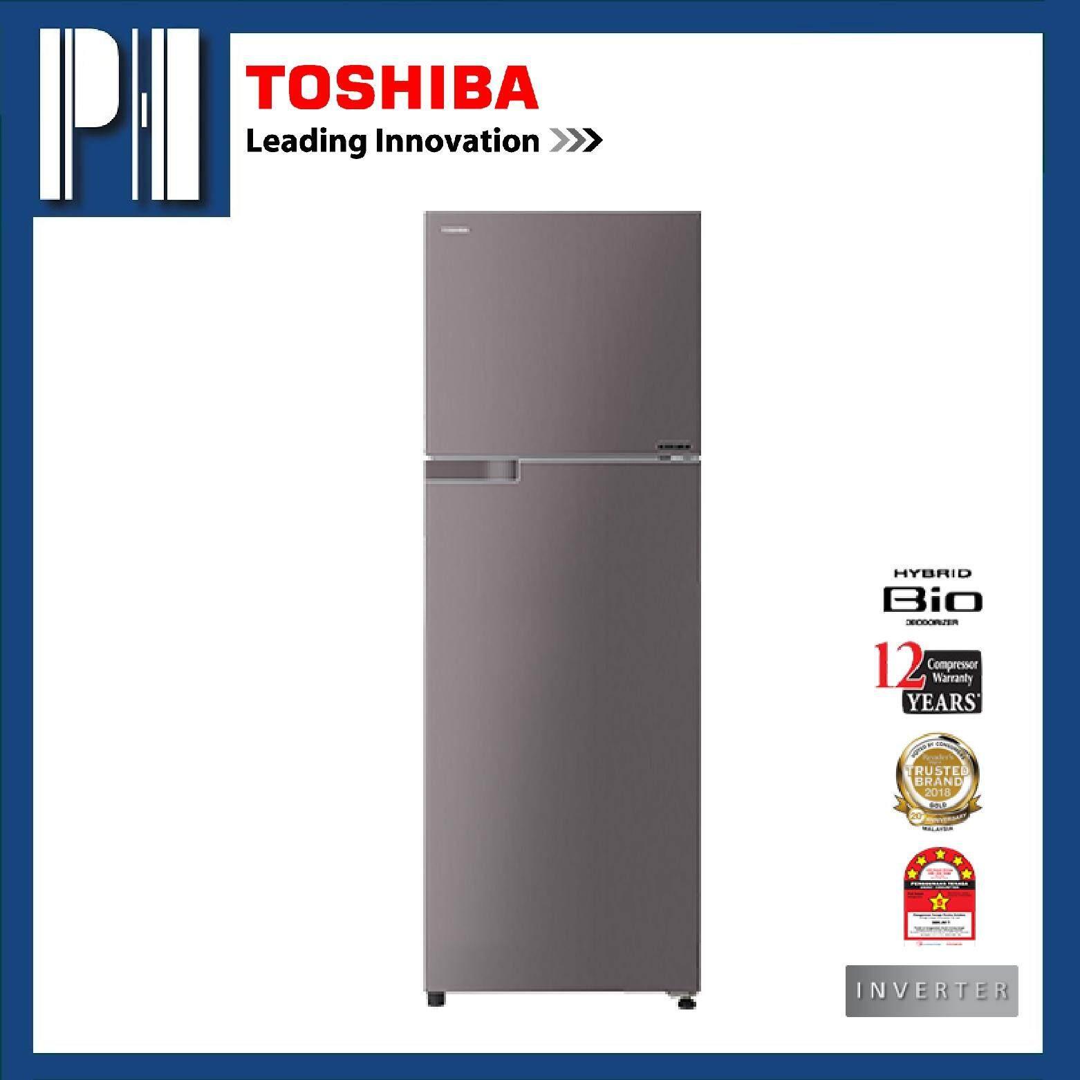 TOSHIBA GR-A39MBZ (DS) 390L Inverter 2 Doors Refrigerator/Fridge (Dark  Silver)