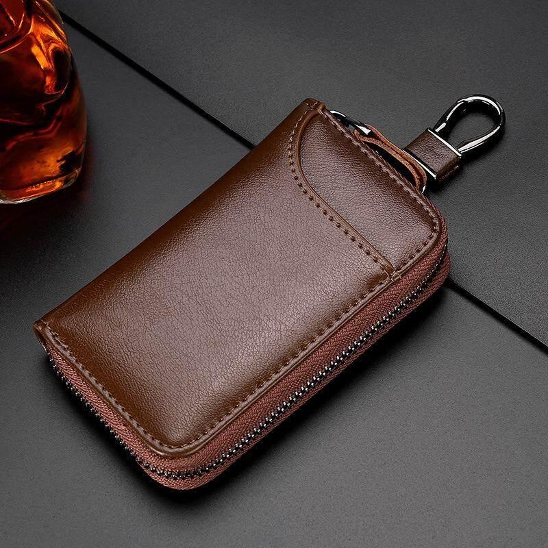 ของแท้กระเป๋าสตางค์กุญแจหนังรถกระเป๋ากุญแจกุญแจเอนกประสงค์กรณีกุญแจผู้ดูแลบ้านผู้ถือ.