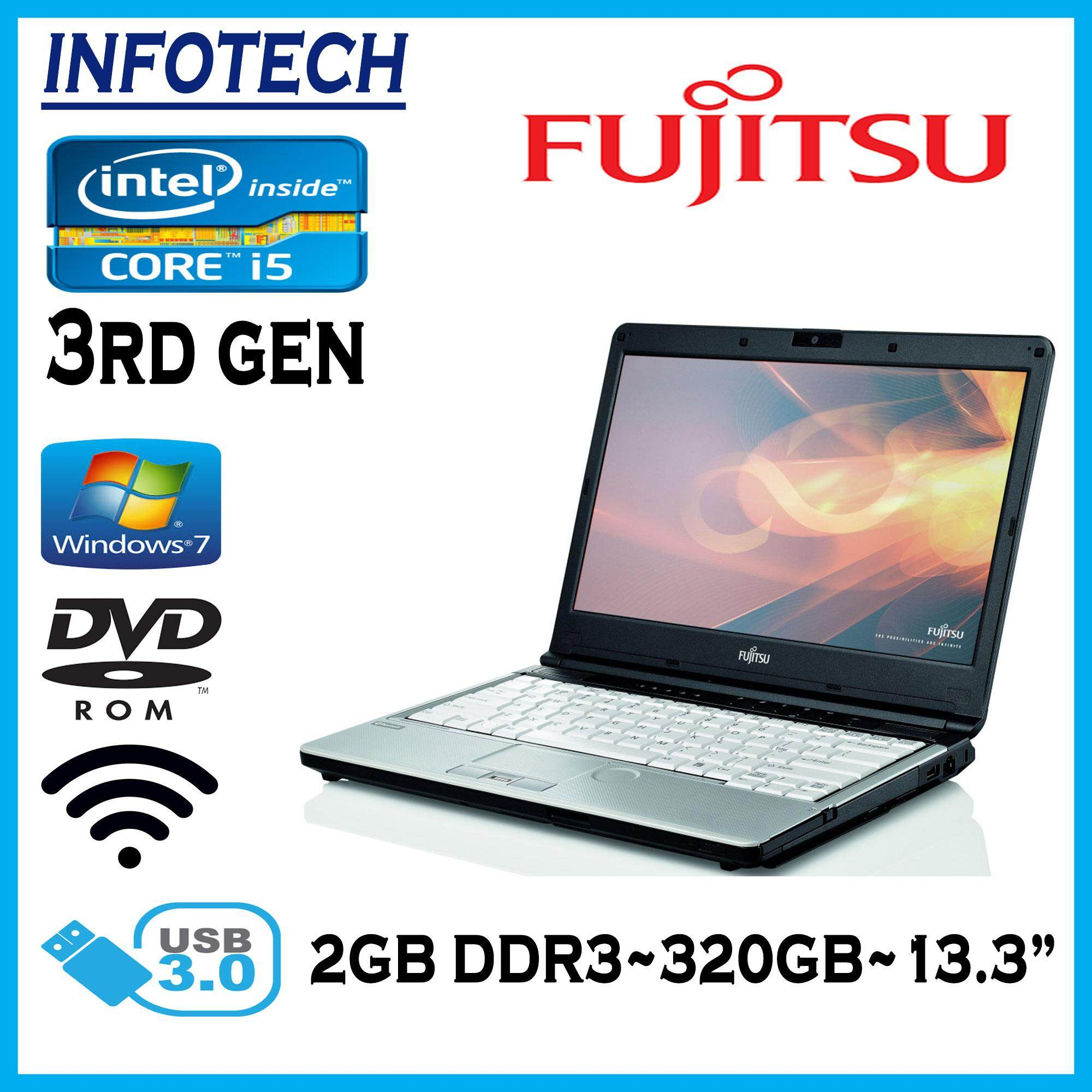 Fujitsu S762 intel core i5 3rd gen 320GB 2GB DVD USB3.0 w7pro LAPTOP NOTEBOOK (Refurbished) Malaysia