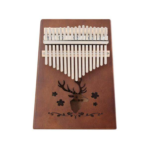 17 Keys Reindeer Kalimba Mahogany Musical Instrument for Beginner Thumb Piano Musical Instruments Malaysia