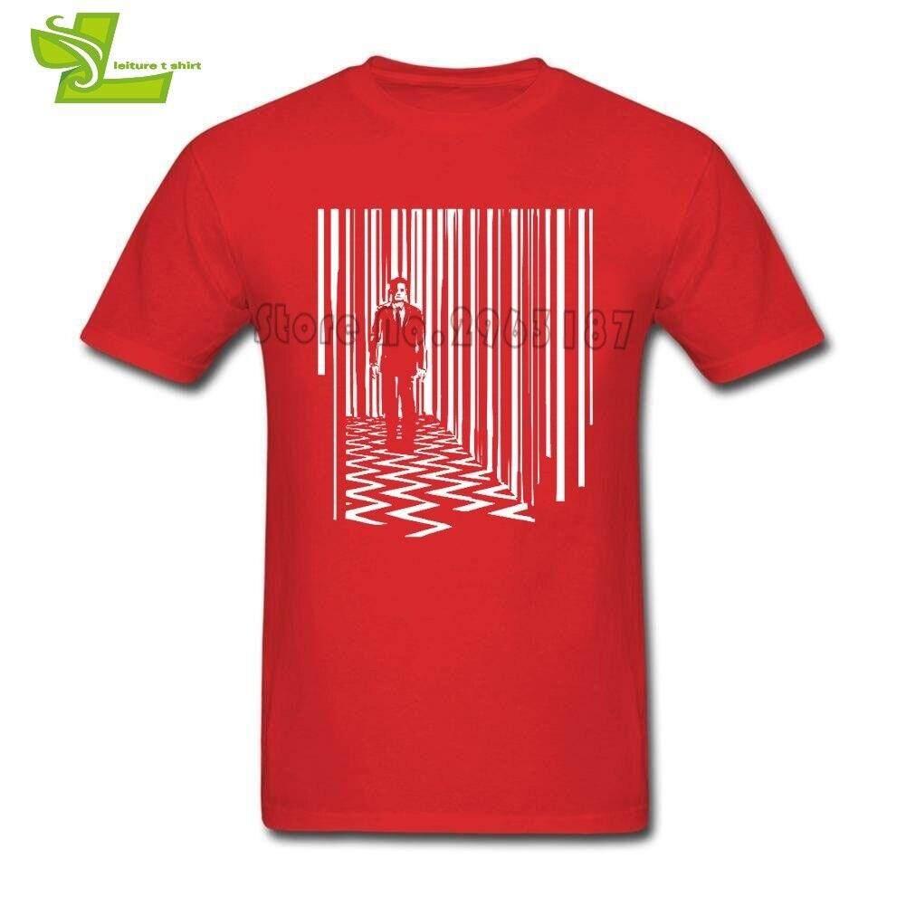 fd6719e5 JJC Black Lodge Twin Peaks T Shirt Men Summer 100% Cotton Club Tee Adult Big