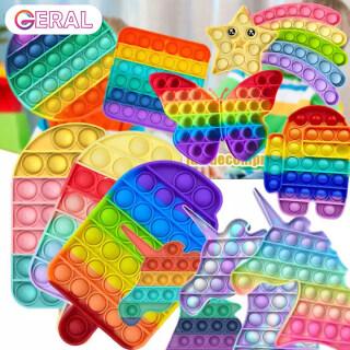 COD pop it Đồ Chơi Bé Gái 2021 Rẻ Nhất, Bật Nó Cầu Vồng Đồ Chơi Giải Nén Silicon Jumbo, Đồ Chơi Cảm Giác Giảm Căng Thẳng Bong Bóng Đẩy Trò Chơi Luyện Tập Suy Nghĩ Cho Trẻ Em Kem Pop It đồ chơi trẻ em gái pop it rainbow jumbo thumbnail
