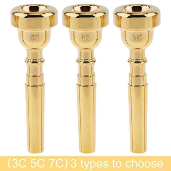 SLADE 3C 5C 7C Gold Plated Copper Alloy Professional Trumpet Mouthpiece with Rich Tone Malaysia