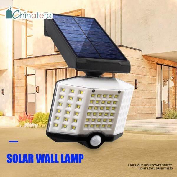 Đèn LED An Ninh Chinatera 66LED/66COB, Đèn Treo Tường Năng Lượng Mặt Trời Cảm Biến Chuyển Động PIR, Dùng Ngoài Trời, Chống Nước, Tiết Kiệm Năng Lượng