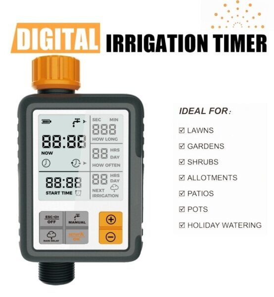 Water Timer Automatic Garden Outdoor Irrigation Controller Sprinkler System Timer Kit