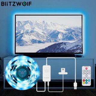 BlitzWolf Bộ Đèn Dây TV 2M USB RGB, Sync Với Màn Hình TV Màu Cho TV Hiệu Ứng Ánh Sáng Màu RGB Sống Động 60 Hạt Đèn SMD5050 thumbnail