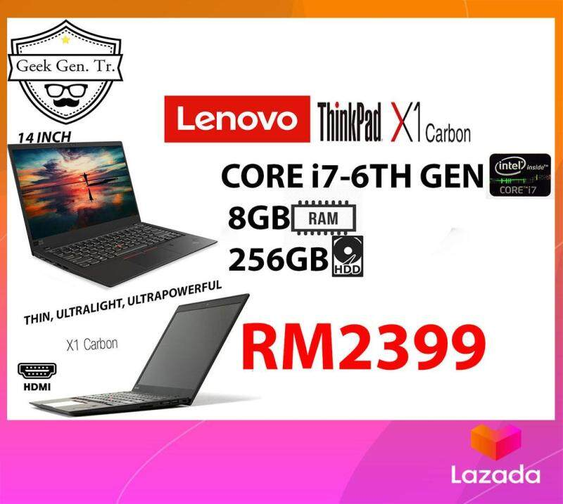 LENOVO ThinkPad X1 Carbon GEN 4 INTEL  CORE i7-6TH GEN (2.80GHZ) 8GB RAM 256GB SSD 14 INCH Malaysia