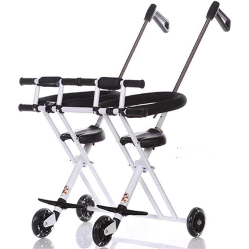1-5 Years Kids Transport Tools Carts Child Folding Bikes For Twins Kids Walking Folding Scooter Double Seat Portable Wheelchair Singapore