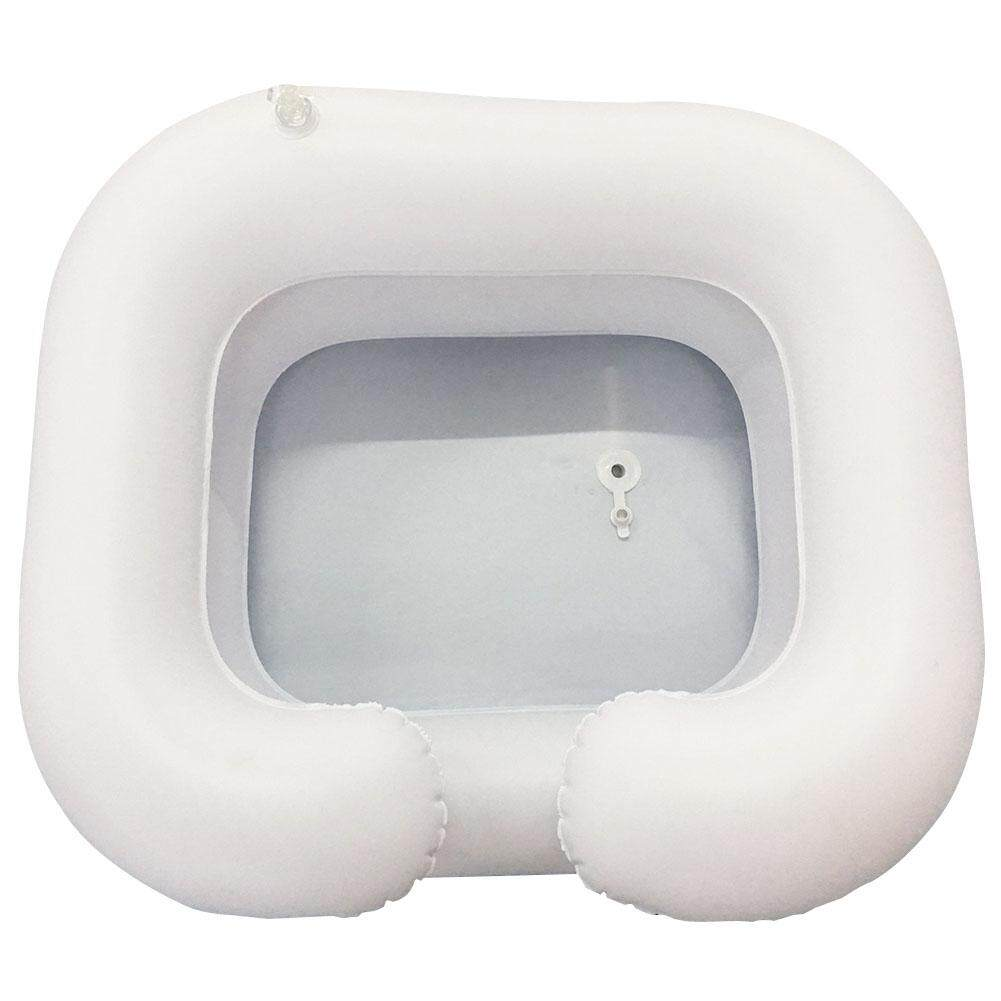 Handicapped Elderly Care Disabled Inflatable PVC Conditioner Hair Washing Basin Portable Shampoo Tray Assistive Aid Salon Hairdressing In Bed With Drain Tube