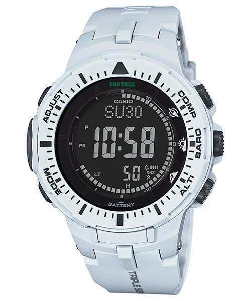 Casio Protrek Triple Sensor Tough Solar Resin Band Grey x Black Color Digital Watch PRG-300-7D Malaysia