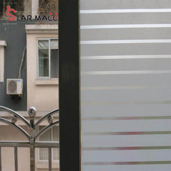 Star Mall 2Mx 45CM PVC Waterproof Frosted Glass Film Sticker For Bathroom Window Home Privacy Style:M046