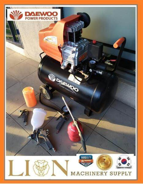 (DAEWOO COMBO)Daewoo DAC50D Compressor 2.5hp, 50L 8 bar with 5pcs Air Tools Kits