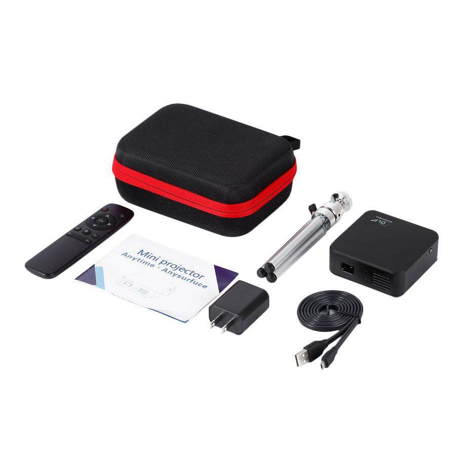 Ưu Đãi Lớn 1080 P WIFI Di Động Kết Nối Điện Thoại với USB HDMI VGA DLP Máy Chiếu Cineme
