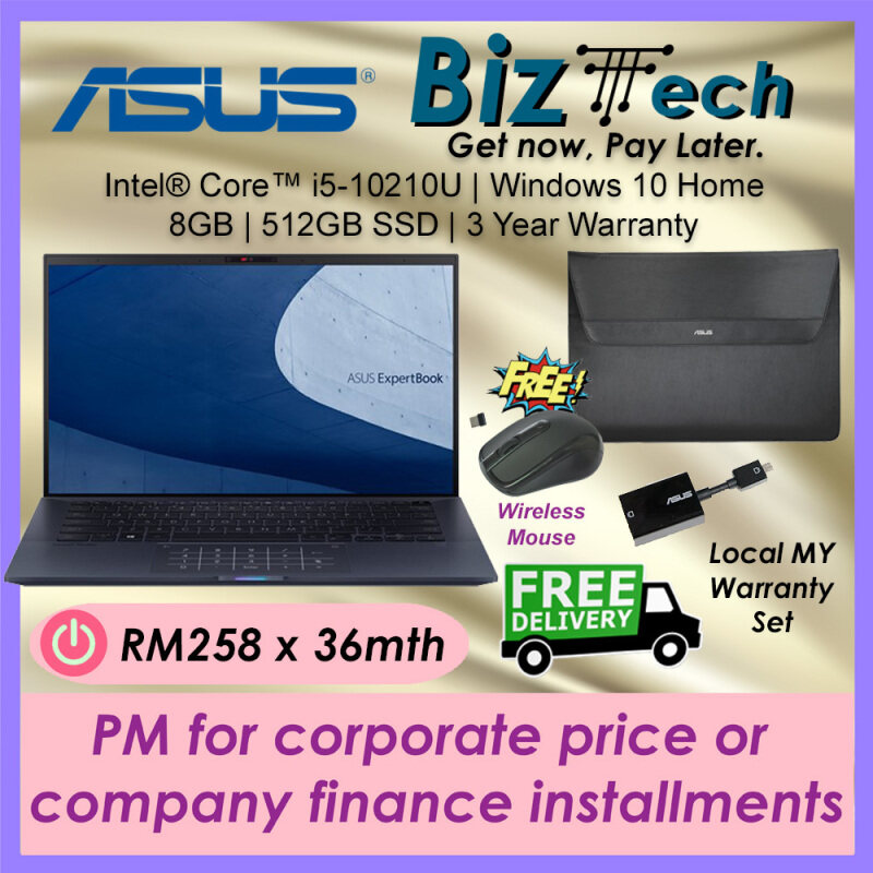 Asus ExpertBook B9450F [Free Shipping] Commercial Laptop Leasing Rental Hire Purchase Installment Malaysia