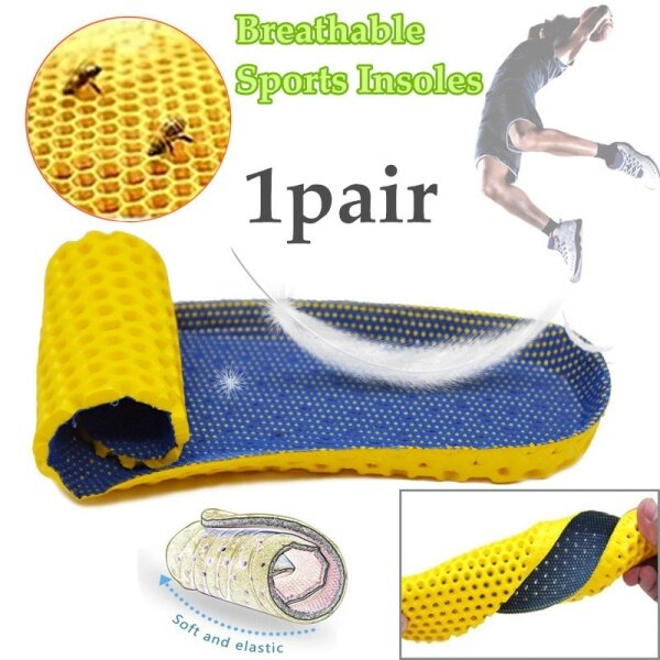 Giá bán 【Chasers Outdoor Store】1pair Sport Shoes Insert Insoles Soft Silicone Breathable Absorb Sweat Shoes Pads