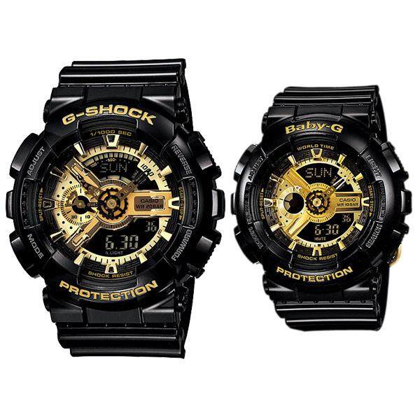 SPECIAL PROMOTION CASI0 G... SHOCK_GA110 DUAL TIME RUBBER STRAP WATCH SET FOR COUPLES Malaysia