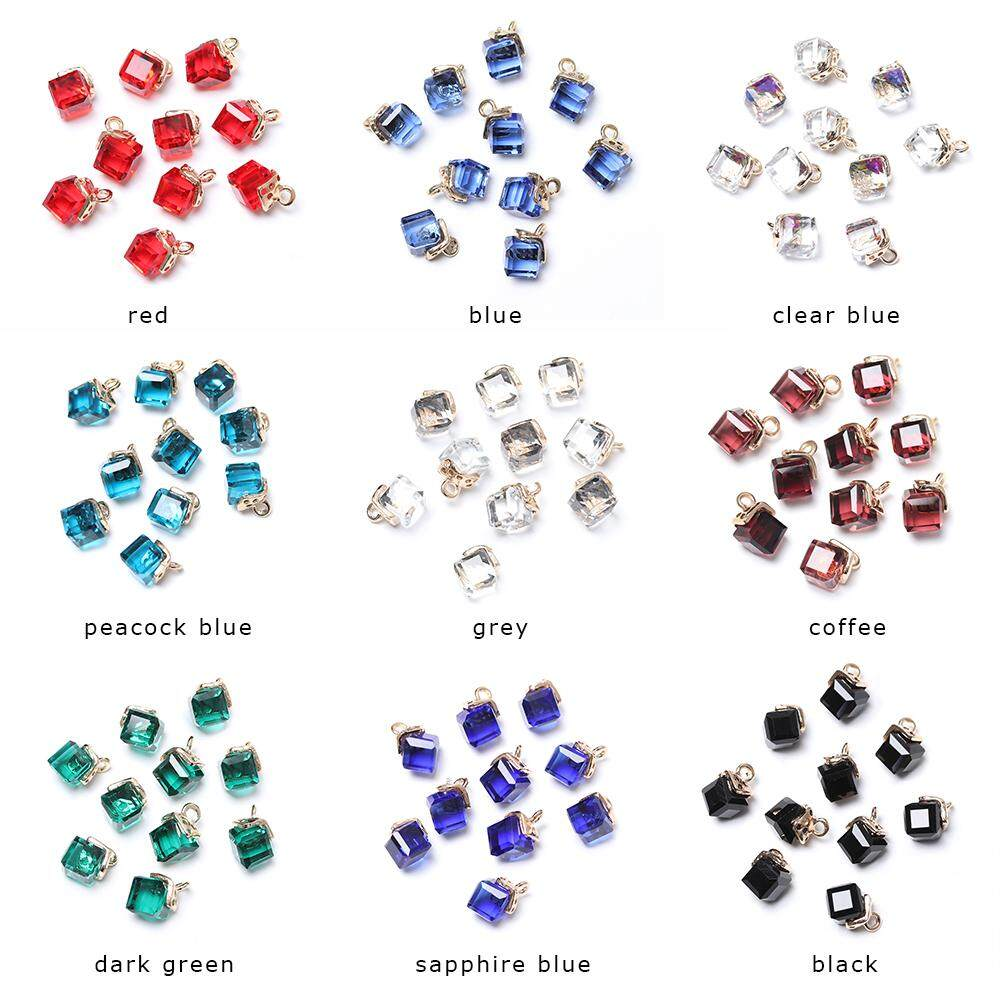 Shape Jewelry Making Glass Spacer Beads Bracelet Components Cube Crystal Beads
