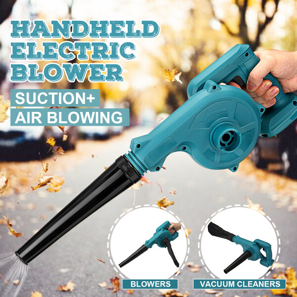 2 In 1 Cordless Electric Leaf Blower Dust Extractor Vacuum Cleaner Air Blower Suction and Blowing Power Tool for Makita 18V (Battery Excluded)