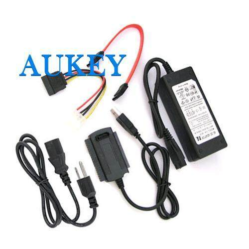 Sata/ide To Usb 2.0 Adapter Converter Cable For 2.5/3.5 Hard Drive Black 1pcs By Aukey Store.