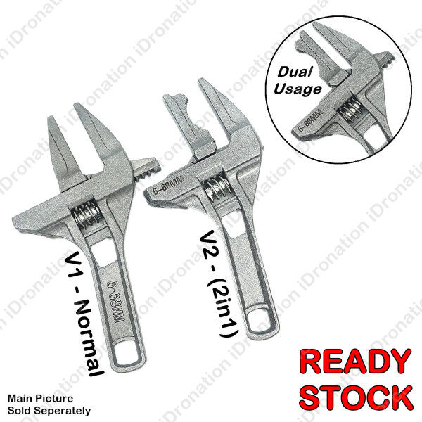 Universal 6MM ~ 68MM Sanitary Adjustable Spanner Snap 300MM Grip Wrench Torque Key Nut Pipe Reversible Jaw Bathroom Hand Tools