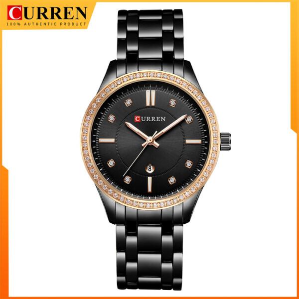 CURREN Women Watch Casual Fashion Quartz Wristwatches Ladies Gift Crystal Design 9010 Malaysia