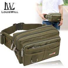 Túi đeo hông đeo chéo siêu nhiều ngăn tiện lợi dành cho nam chất liệu chống nước dày dặn LouisWill