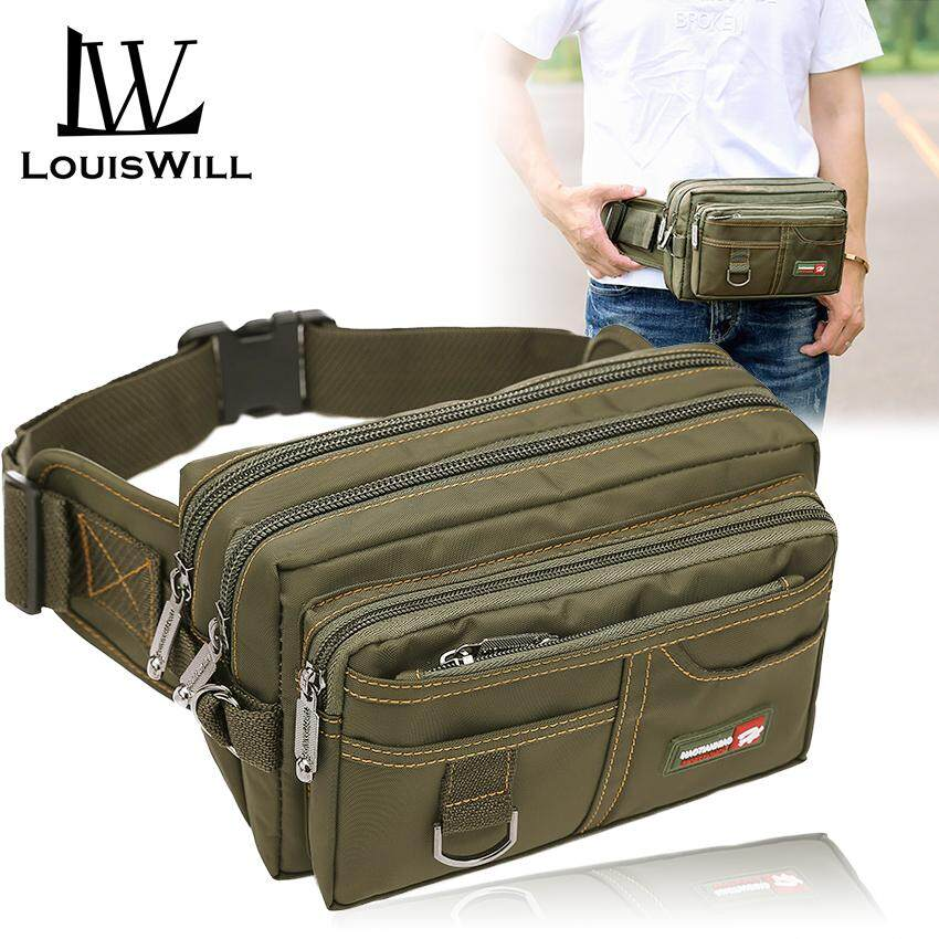 5f4511ee48a LouisWill Waist Pouch Bag Men Waist Pack Water-resistant Hiking Cycling Waist  Bag Outdoor Traveling