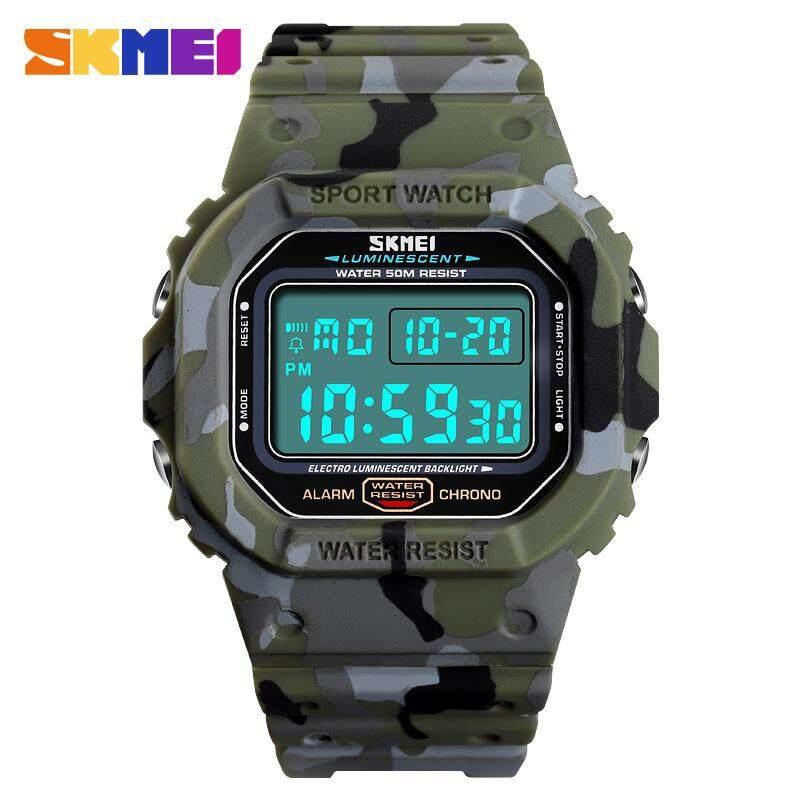 SKMEI Fashion Multi-function Anti-vibration Military Camouflage Men's Watch New Sports Electronic Watch