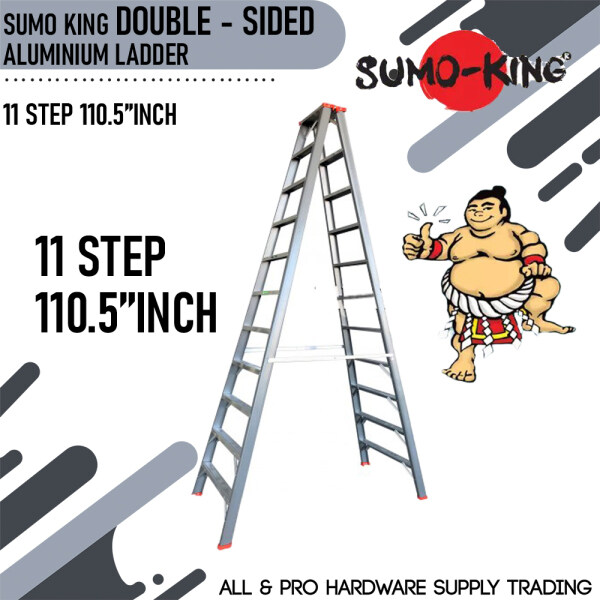 SUMO KING DOUBLE SIDED LADDER 11 STEP 110.5INCH