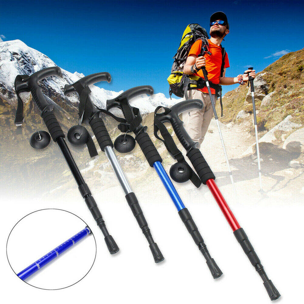 Retractable Anti Shock Walking Sticks Telescopic Trekking Hiking Poles Canes ND