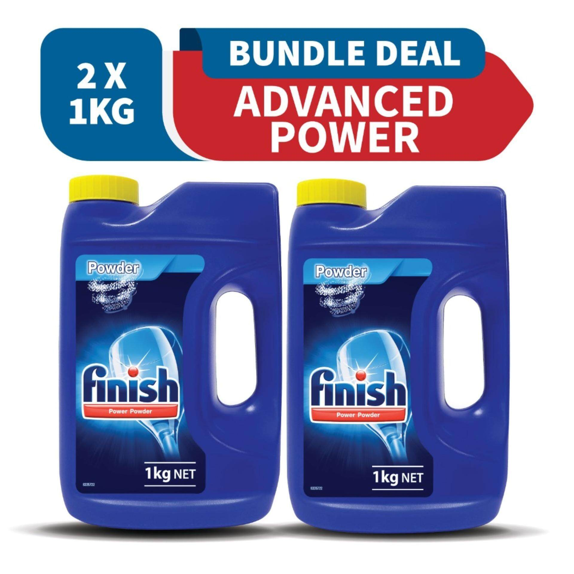 [12.12 MEGA OFFER] Bundle - Finish Dishwasher Cleaning Lemon Powder 1KG x2