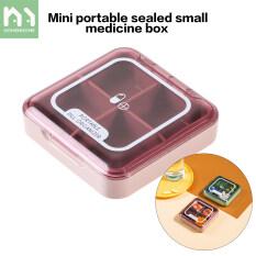 Homenhome Hộp đựng thuốc mini 4 ngăn chất lượng cao – INTL